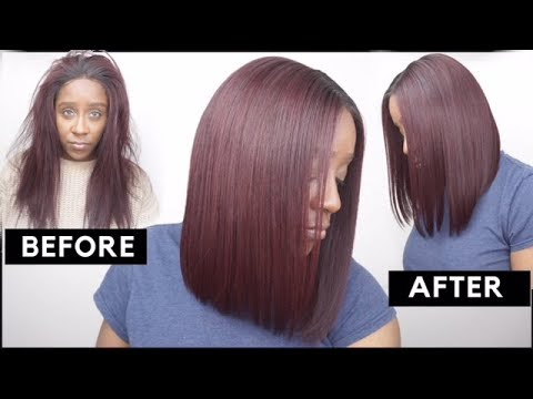 PERFECT BOB HAIRCUT TUTORIAL FOR BEGINNERS | FT EVAWIGS