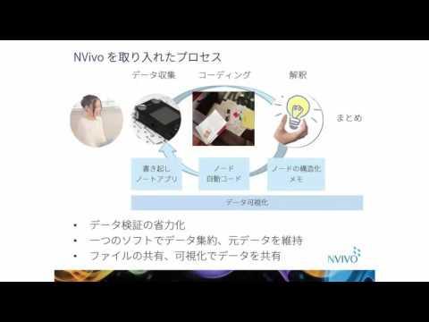 インタビュー分析にNVivoを活用(NVivo 11オンライン・デモ)