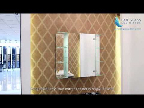 Fab Glass And Mirror LED Mirror Cabinet with Side Shelves FGM-L-J010A3 Installation Guide