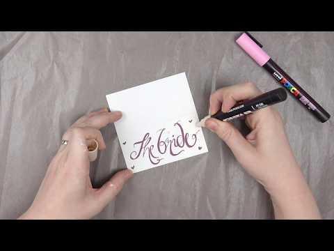 Posca Pen Design A Name Place Card