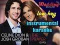 The Prayer Low Key Karaoke Instrumental