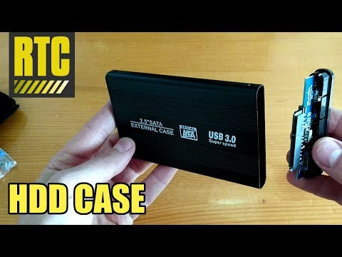 Internal to External Hard Drive Enclosure Case for 2.5 Sata Laptop HDD with USB 3.0