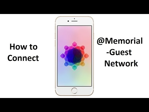 How to connect to @Memorial-guest network - iPhone/iPad
