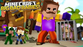 Minecraft BIG BAD BABY - HELLO NEIGHBOR LITTLE KELLY GETS CAPTURED