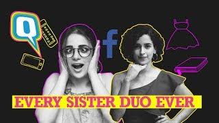 Struggles of Having a Sister (Ft. Sanya Malhotra & Radhika Madan) | Quint Neon