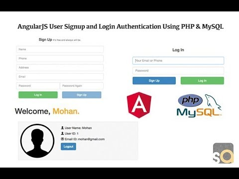 AngularJS User Signup And Login Authentication Using PHP & MySQL - PART 1