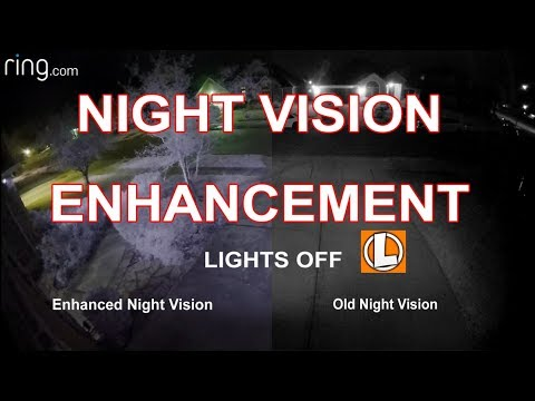Ring Cameras Night Vision Enhancement Update - Black and White in Color...