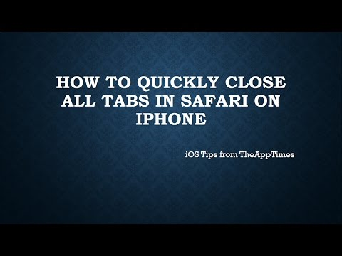 How to Quickly Close All Tabs in Safari on iPhone