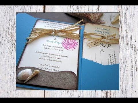 10 Best Beach Themed Wedding Invitation Ideas