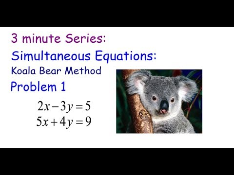 3 Minute Series: Simultaneous Equations