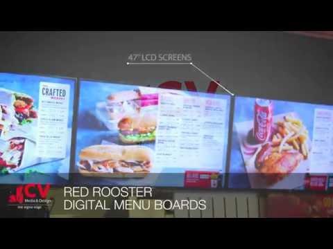 Red Rooster -- Digital Menu Boards