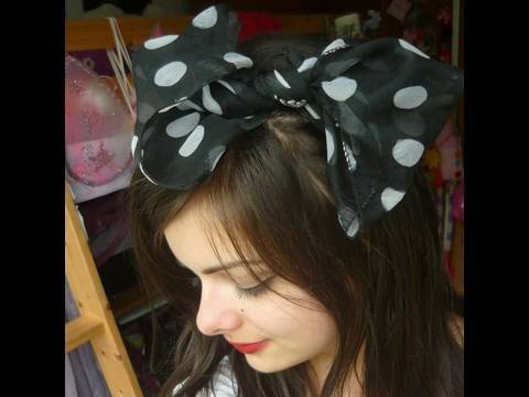 How To | Scarf Into Big Hair Bow