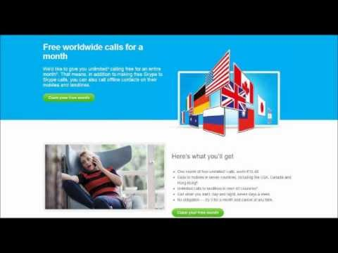How to Get Free Skype Call Credit and make unlimited free calls to mobile & land line phones?