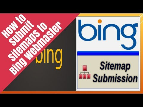 How to submit site maps to Bing webmaster