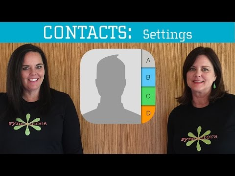 iPhone / iPad Contacts - Settings