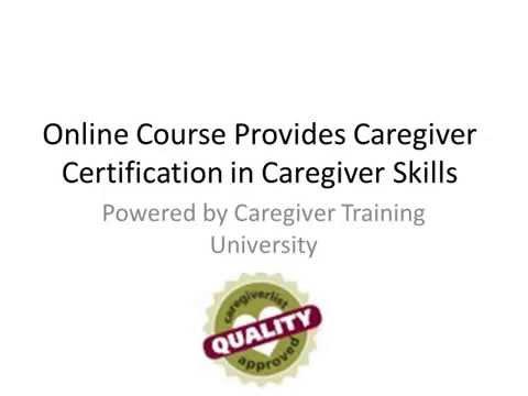 Online Senior Caregiver Training