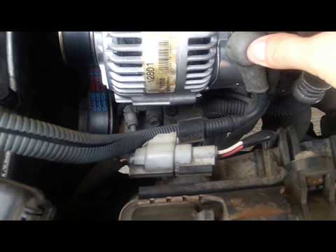 Toyota Corolla 98 to 02 Alternator replacement