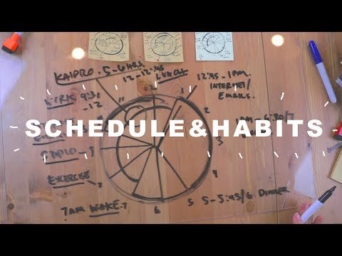 Making better schedules and habits