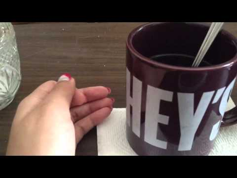 ASMR sounds: instant tea and instant miso soup