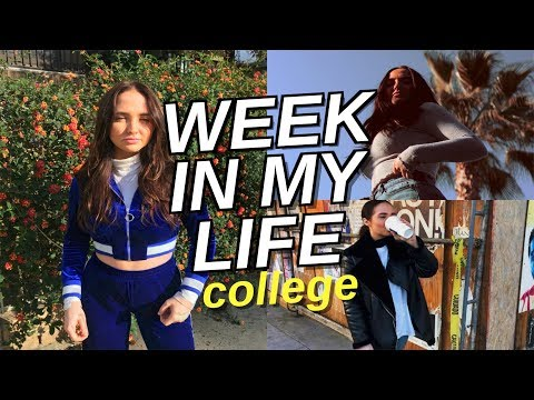 college week in my life | how to stay healthy and work in college