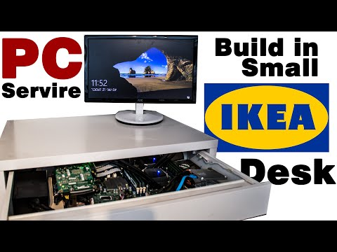 DIY - PC Server Build in a Small IKEA Desk !