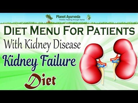 Diet menu for patients with kidney disease   Kidney failure diet