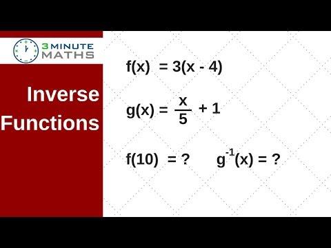 Inverse function question - GCSE maths higher