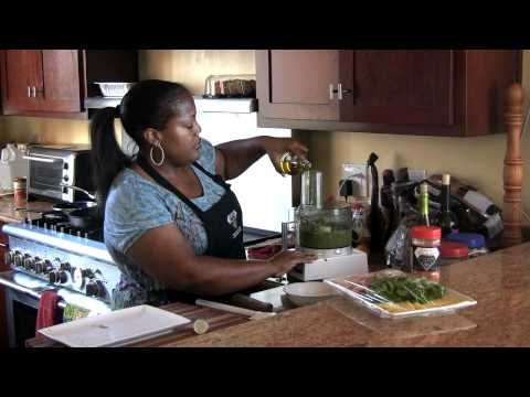 Grilled Ham and Turkey Panini with Homemade Pesto |Cooking with Carolyn