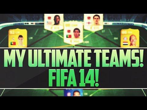 MY ULTIMATE TEAMS! FIFA 14 - SQUAD SHOWCASE!