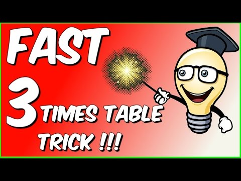 Fast 3 times table trick!!!