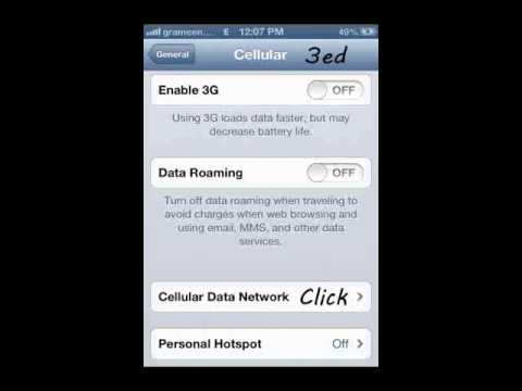 Iphone 4 Grameen Phone INTERNET!!MMS Configuration ISo 6.1.3