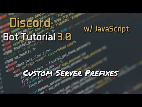 Discord Bot Tutorial 3.0 - Custom Server Prefixes [10]