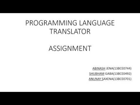 PROGRAMMING LANGUAGE TRANSLATOR