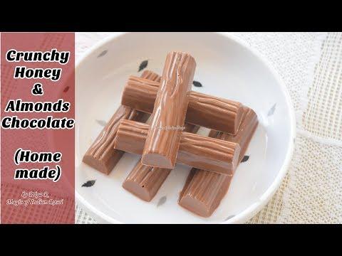 Crunchy Honey and Almonds Chocolate (Homemade) Recipe - Priya R - Magic of Indian Rasoi