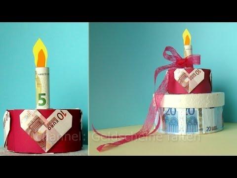 Geldgeschenke Hochzeit Hochzeitstorte Basteln Geld Falten Und
