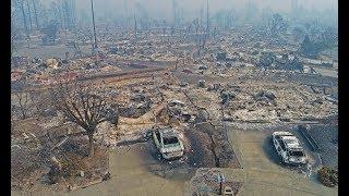 Santa Rosa Fires Drone Douglas Thron October 10, 2017 Hilton,  Coffey, vineyards, California