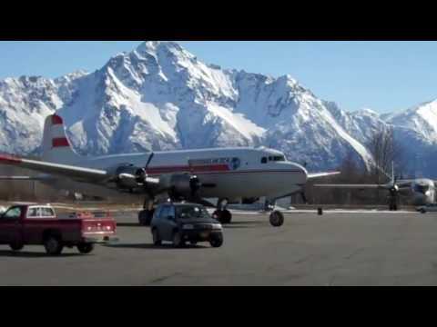 Alaska Flying: Douglas DC4 / C54 in Palmer -2