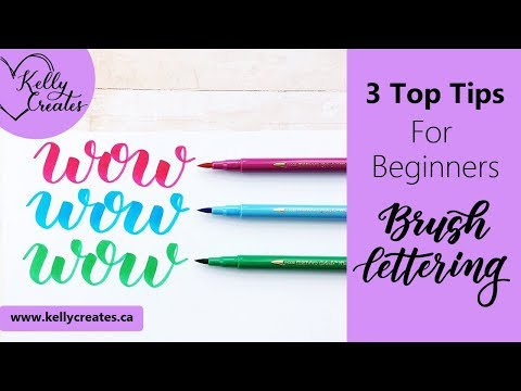 3 Top Tips for Learning Brush Lettering (Calligraphy)