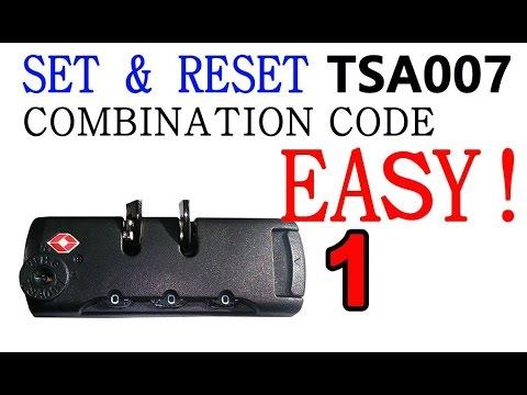 [1min 30sec] How to set / reset TSA 007 combination code SUBSCRIBE please