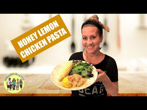 HONEY LEMON CHICKEN with ANGEL HAIR PASTA   HOW TO RECIPE   COOK WITH ME