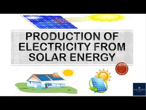 Production of Electricity from Solar Energy