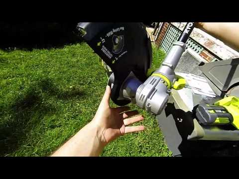 Unboxing and Review of Ryobi 40-Volt Lithium-ion Cordless String Trimmer/Edger