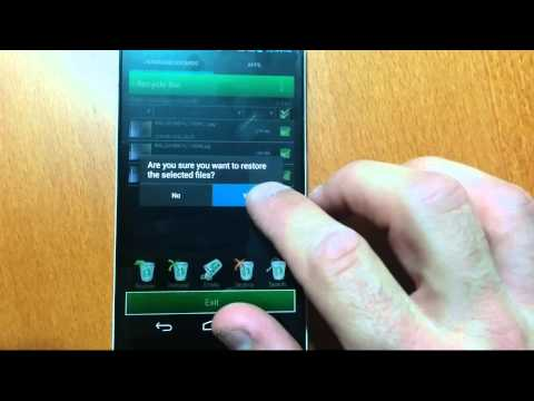 Restore files from Recycle Bin for Android