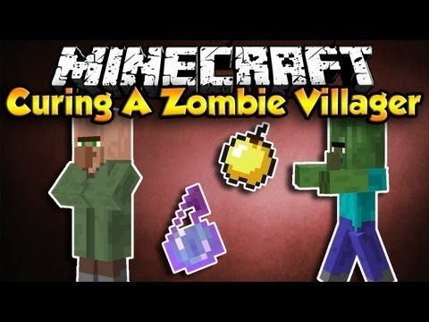 Minecraft Survival PS4 - How To Cure A Zombie Villager - Zombie Doctor Trophy Guide