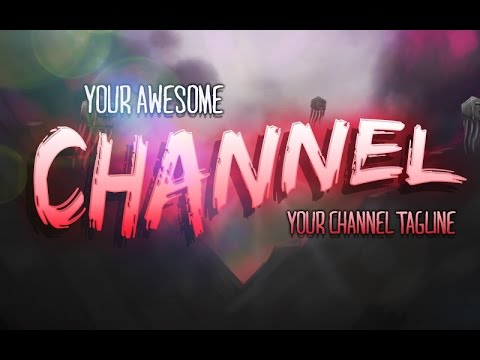 Photoshop: How to create youtube channel art
