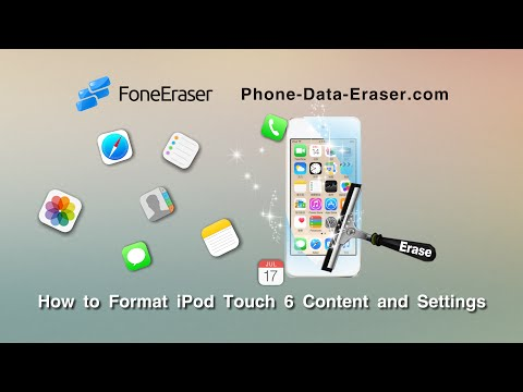 How to Format iPod Touch 6 Content and Settings