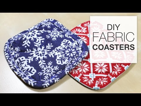 DIY Fabric Coaster Sewing Tutorial