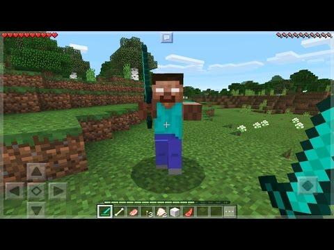 I FOUND HEROBRINE IN Minecraft Pocket Edition - HEROBRINE Vs NOTCH BATTLE