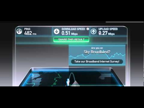 sky broadband speedtest ( slowest internet speed)