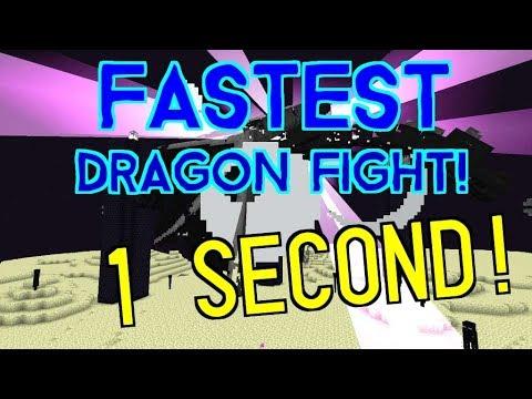 FASTEST Dragon Fight! ( 1 second ) 1.12-1.9 Vanilla Survival